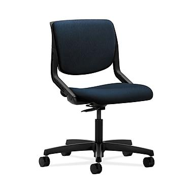 HON® Motivate Task Chair, Upholstered Back, Onyx Shell, Mariner Fabric