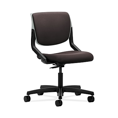 HON® Motivate Task Chair, Upholstered Back, Platinum Shell, Espresso Fabric