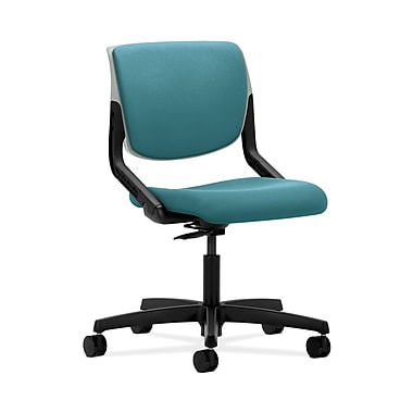 HON® Motivate Task Chair, Upholstered Back, Platinum Shell, Glacier Fabric