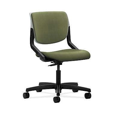 HON® Motivate Task Chair, Upholstered Back, Platinum Shell, Clover Fabric