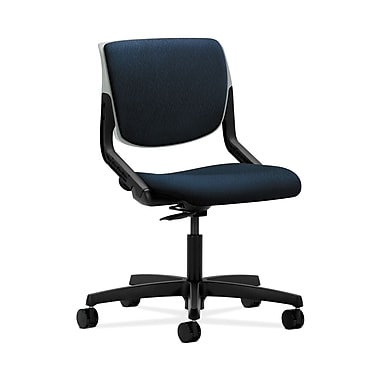HON® Motivate Task Chair, Upholstered Back, Platinum Shell, Mariner Fabric