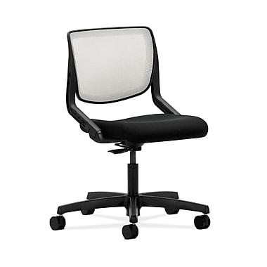 HON® Motivate Task Chair, Fog ilira®-stretch Back, Confetti Black Fabric