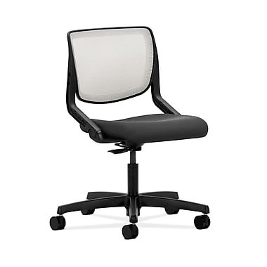 HON® Motivate Task Chair, Fog ilira®-stretch Back, Iron Ore Fabric