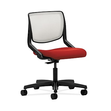 HON® Motivate Task Chair, Fog ilira®-stretch Back, Tomato Fabric