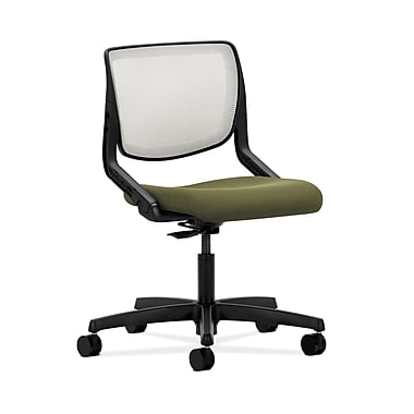 HON® Motivate Task Chair, Fog ilira®-stretch Back, Olivine Fabric