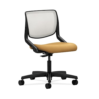 HON® Motivate Task Chair, Fog ilira®-stretch Back, Mustard Fabric