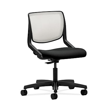 HON® Motivate Task Chair, Fog ilira®-stretch Back, Tectonic Black Fabric
