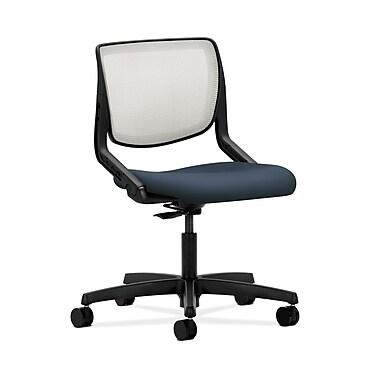 HON® Motivate Task Chair, Fog ilira® Stretch Back, Silvertex Vinyl Jet