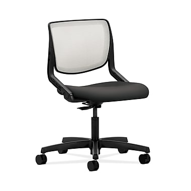 HON® Motivate Task Chair, Fog ilira® Stretch Back, Carbon Fabric