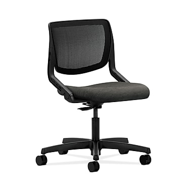 HON® Motivate Task Chair, Black ilira®-stretch Back, Attire Onyx Fabric