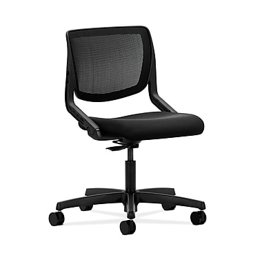 HON® Motivate Task Chair, Black ilira®-stretch Back, Centurion Black Fabric