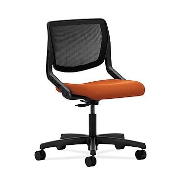 HON® Motivate Task Chair, Black ilira®-stretch Back, Tangerine Fabric