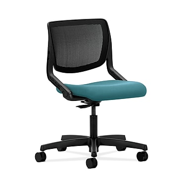 HON® Motivate Task Chair, Black ilira®-stretch Back, Glacier Fabric