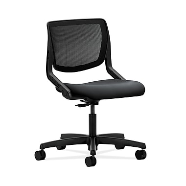 HON® Motivate Task Chair, Black ilira®-stretch Back, Inertia Onyx Fabric