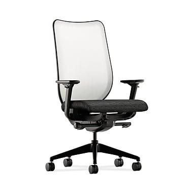 HON® Nucleus Task Chair, Fog ilira®-stretch Back, Synchro-Tilt, Seat Glide, Adjustable Arms, Onyx Fabric
