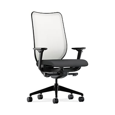 HON® Nucleus Task Chair, Fog ilira®-stretch Back, Synchro-Tilt, Seat Glide, Adjustable Arms, Carbon Fabric