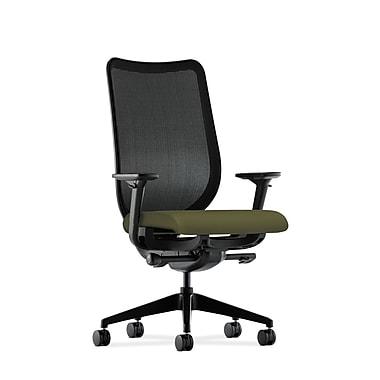 HON® Nucleus® Mesh Task Chair, Adjustable Arms, Black/Olivine