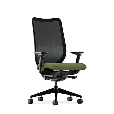 HON® Nucleus® Mesh Task Chair, Adjustable Arms, Black/Clover