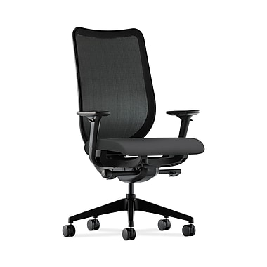 HON® Nucleus Task Chair, Black ilira®-stretch Back, Synchro-Tilt, Seat Glide, Adjustable Arms, Carbon Fabric