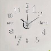 Vandue Corporation Modern Home Self Adhesive DIY 3D Wall Clock; Linus Metal
