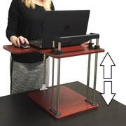 Stand Steady 17' H x 25'' W Standing Desk w/ Sit/ Stand Conversion Unit; Cherry