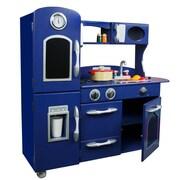Teamson Kids Wooden Play Kitchen Set; Navy Blue