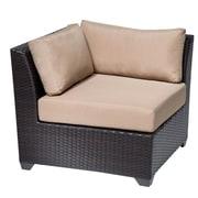 TK Classics Barbados Corner Chair (Set of 2); Wheat