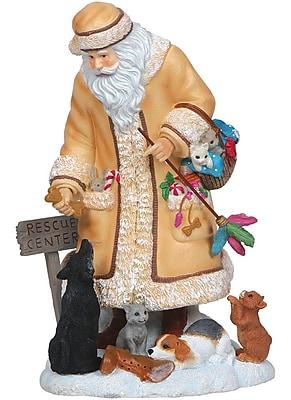 PPKA Rescue Santa Sculpture; 13.7''H x 7.3''W x 8.8''D WYF078279300040