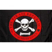 NeoPlex Pirate Republic Circle Traditional Flag; Red