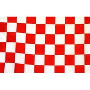 NeoPlex Checkered Traditional Flag; Red/White