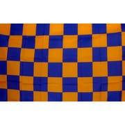 NeoPlex Checkered Traditional Flag; Blue/Orange
