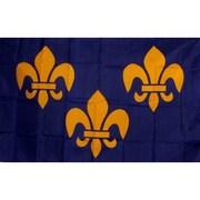 NeoPlex France Fleur De Lis 3 Traditional Flag; Blue