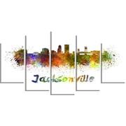 DesignArt Metal 'Jacksonville Skyline' Painting Print