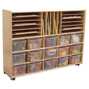 Contender Assembled Multi-Storage with Trays Cubby Shelving Unit; Yes