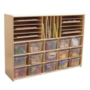 Contender Assembled Multi-Storage with Trays Cubby Shelving Unit; No
