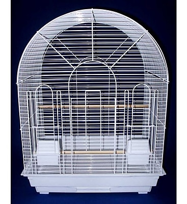 YML Round Top Small Bird Cage; White WYF078276416851