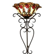 Warehouse of Tiffany Nadal Stained Glass 28 Inch Tiffany-style Wallchiere Lamp
