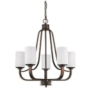Acclaim Lighting Addison 5 Light Drum Chandelier; Oil Rubbed Bronze