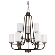 Acclaim Lighting Addison 9 Light Drum Chandelier; Oil Rubbed Bronze