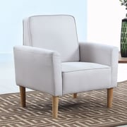 Madison Home USA Mid Century Modern Fabric Living Room Armchair; Beige
