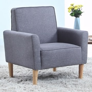 Madison Home USA Mid Century Modern Fabric Living Room Armchair; Gray
