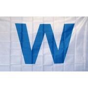 NeoPlex W Wringley Field Traditional Flag; Light Blue