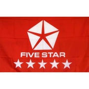NeoPlex Fivestar Auto Logo Traditional Flag; Red