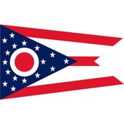 NeoPlex Ohio Traditional Flag; Polyester