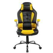 Merax Mesh Desk Chair; Yellow/Black