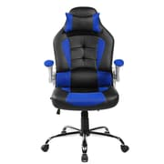 Merax High-Back Executive Chair with Arms; Blue
