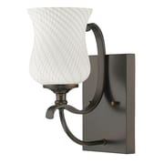 Acclaim Lighting Evelyn 1 Light Bath Sconce; Oil Rubbed Bronze