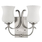 Acclaim Lighting Evelyn 2 Light Vanity Light; Satin Nickel