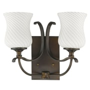 Acclaim Lighting Evelyn 2 Light Vanity Light; Oil Rubbed Bronze