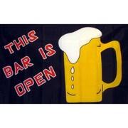 NeoPlex Bar Open Beer Mug Traditional Flag